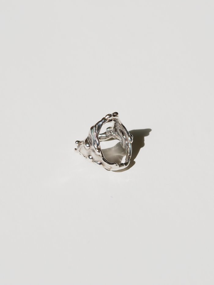 Drippings silver ring 3